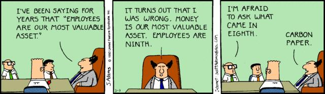 Are employees and asset?