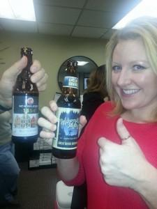 Beer Exchange Cynthia thumbs up
